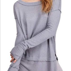 NWT Free People Cozy North Shore Thermal In Grey